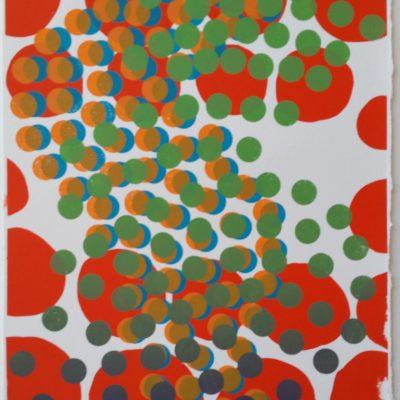 """""""Buzzz"""" silkscreen by Melissa Staiger 10/10"""