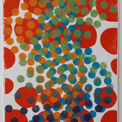 """""""Buzzz"""" silkscreen by Melissa Staiger 7/10"""